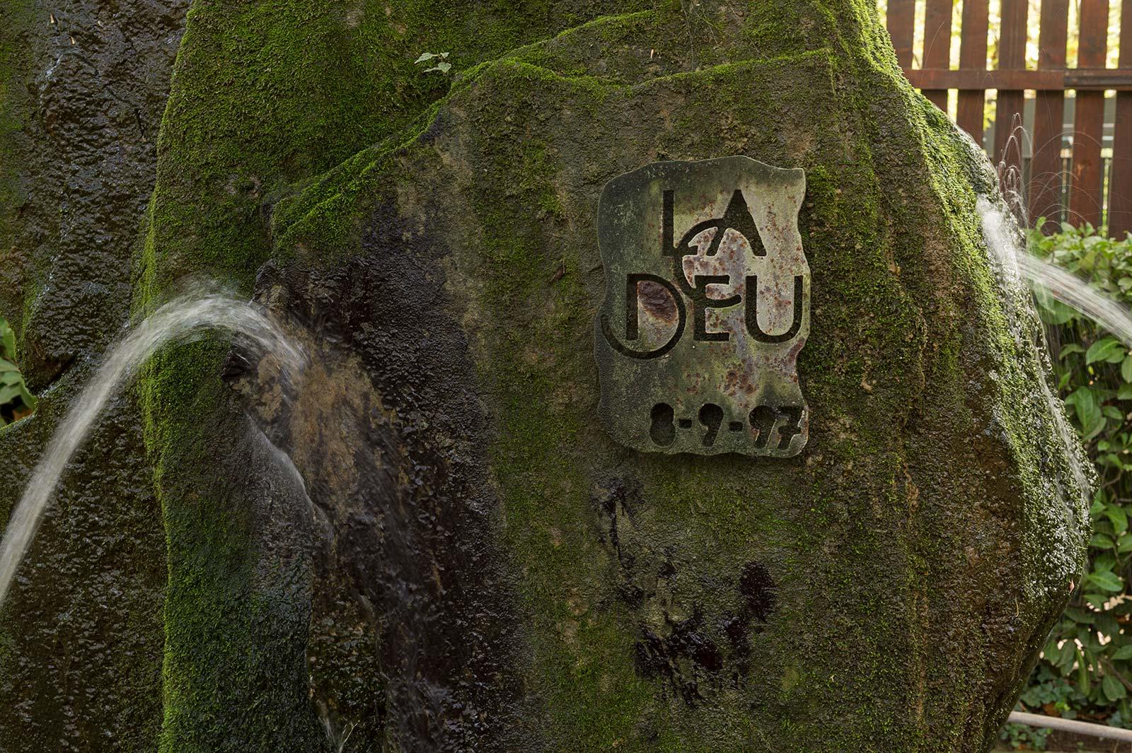 La fuente de la entrada en el Restaurante La Deu