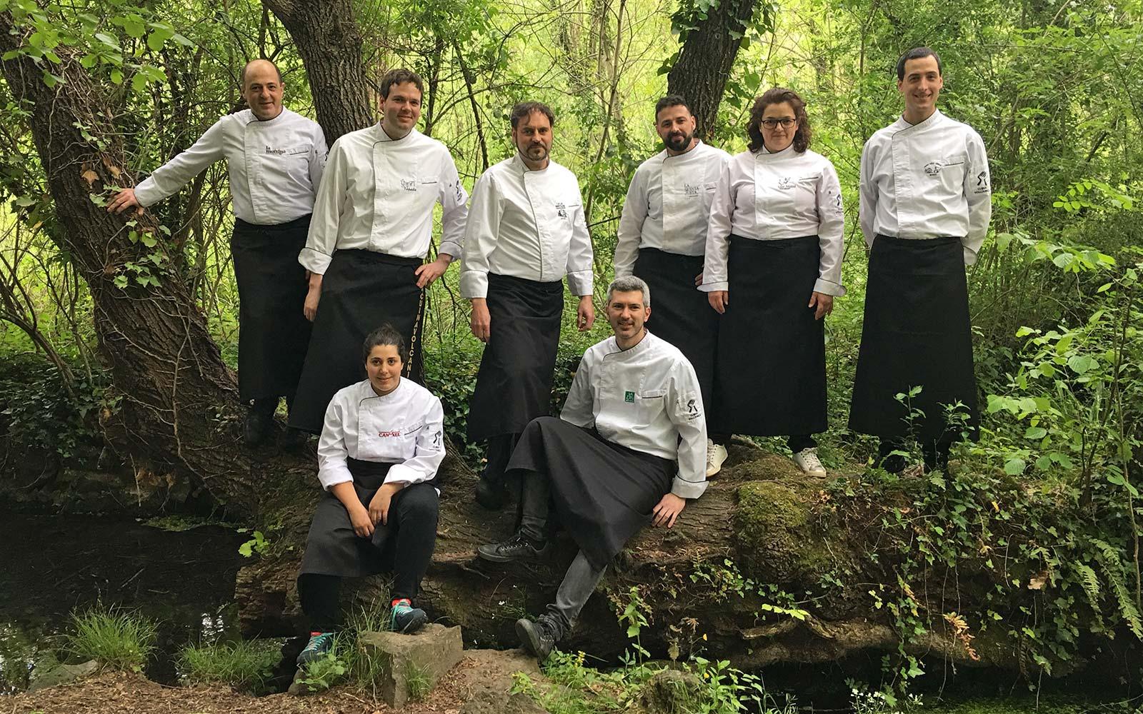 Cuiners de cuina volcànica a la Garrotxa